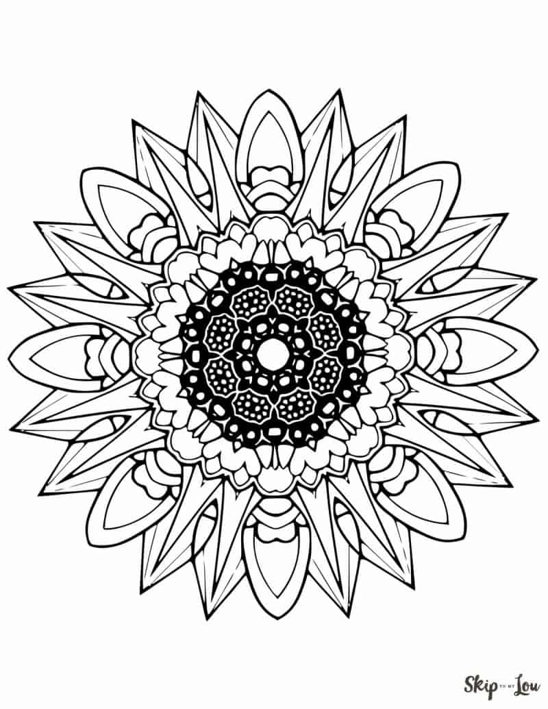 Beautiful FREE Mandala Coloring Pages | Skip To My Lou | free printable colouring pages mandalas