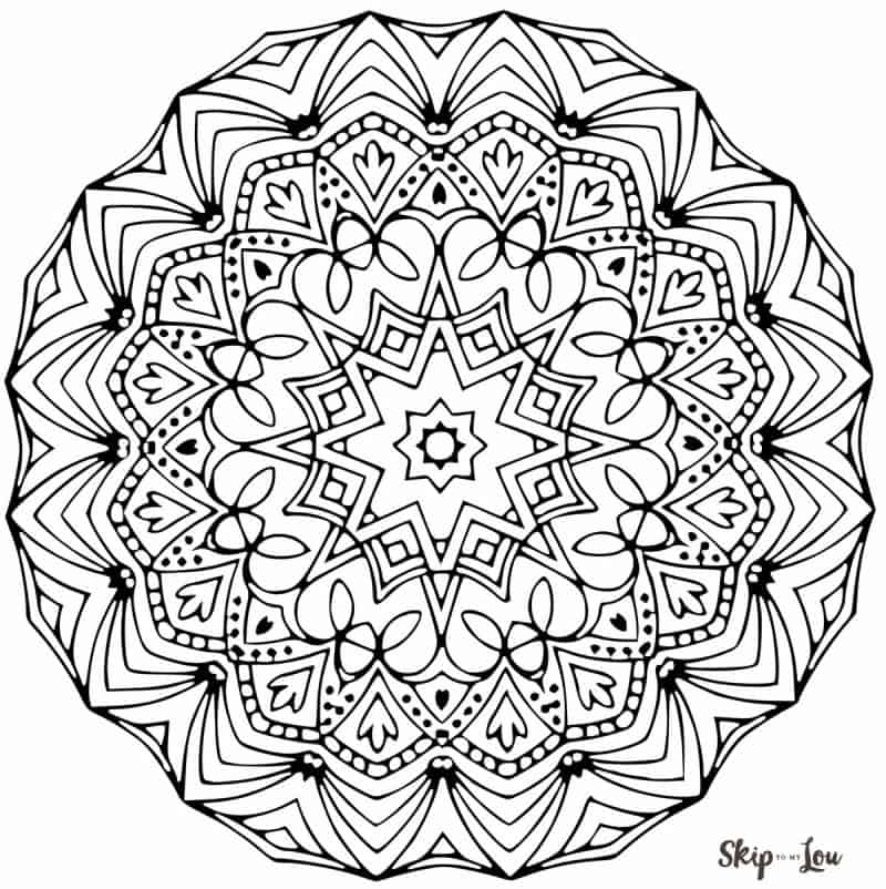 Color Your Stress Away With Mandala Coloring Pages | Skip ... | coloring pages mandalas printable