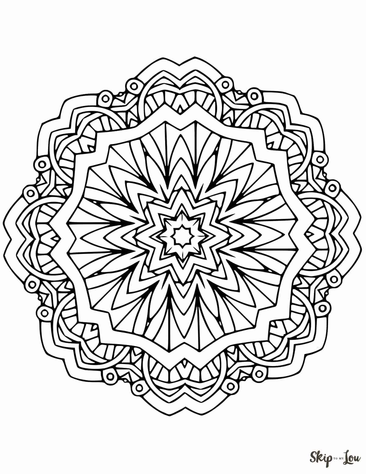 Beautiful FREE Mandala Coloring Pages | Skip To My Lou | free printable mandala coloring pages for adults only