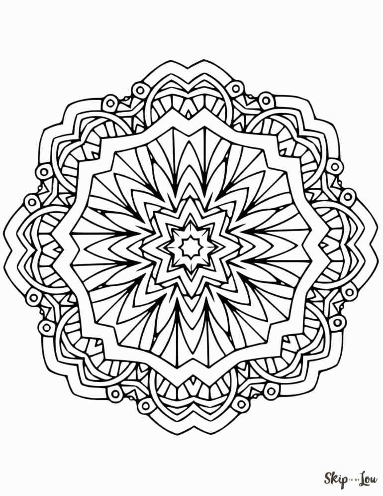 Beautiful FREE Mandala Coloring Pages | Skip To My Lou | free printable mandala coloring pages for adults