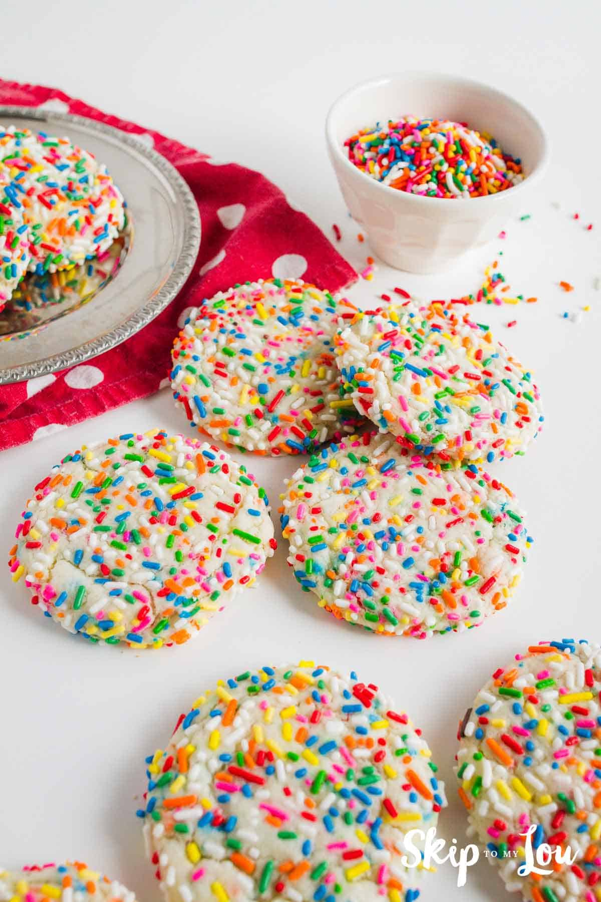 Funfetti Cookies EASY And Delicious Colorful Skip To My Lou