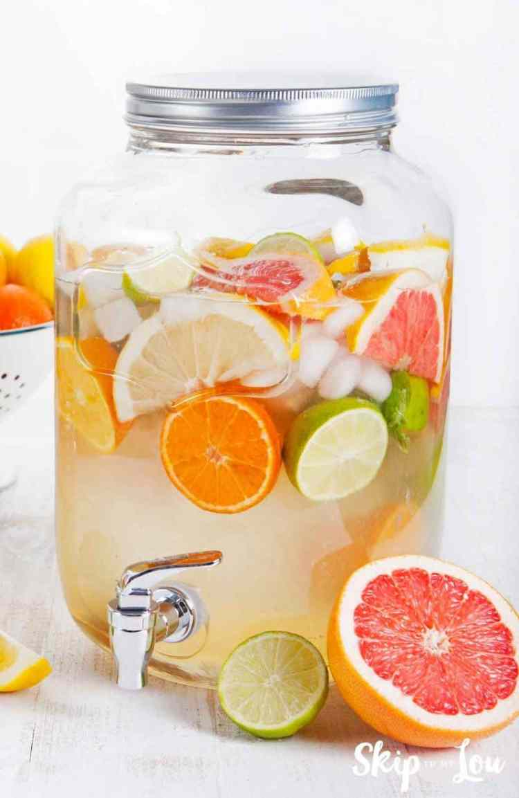 detox water in large jar