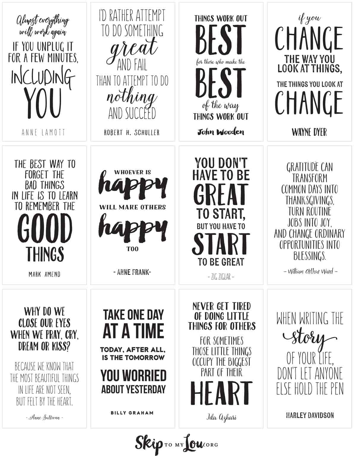 Amazing Life Quotes For Inspiration Free Printable Cards