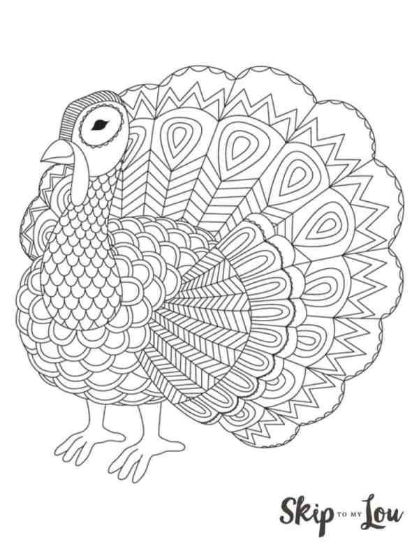 free printable turkey coloring pages # 5