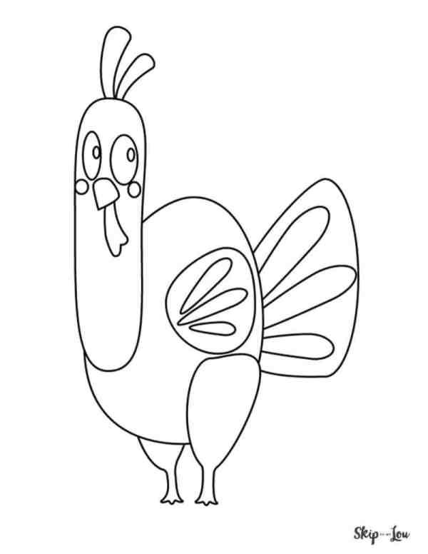 coloring page turkey # 24