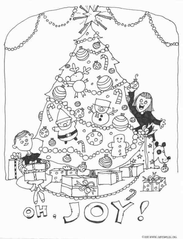coloring pages of christmas trees # 14