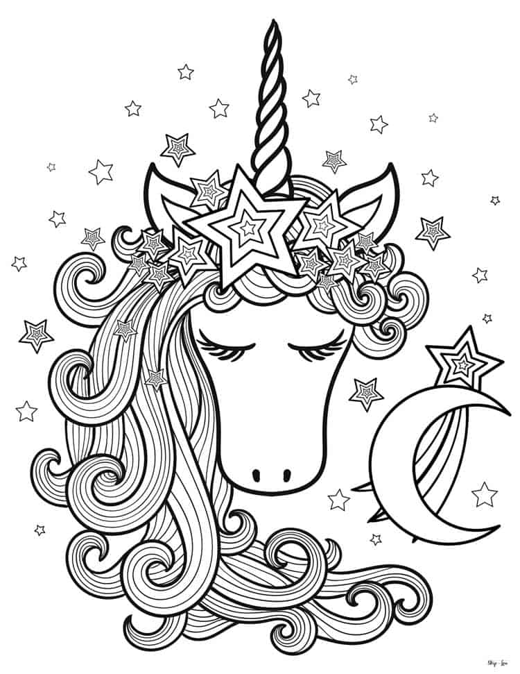 Magical Unicorn Coloring Pages Print For Free Skip To My Lou