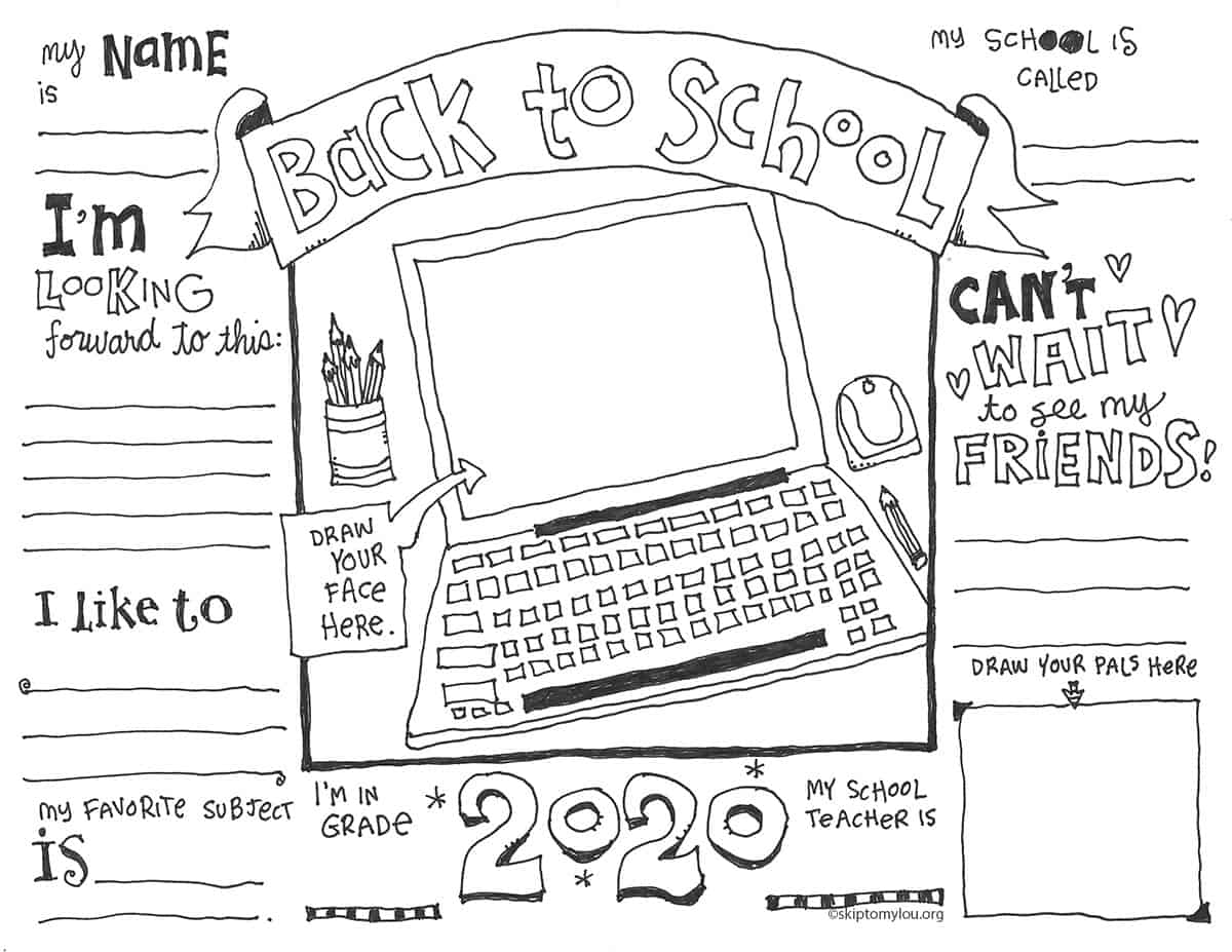 First Day Of School Coloring Pages Updated With Virtual