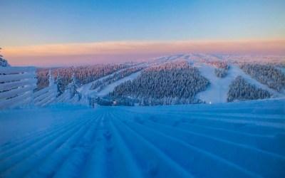 Tilapäinen kuljetuspalvelu Kaunispään huipulle SkiBussilla