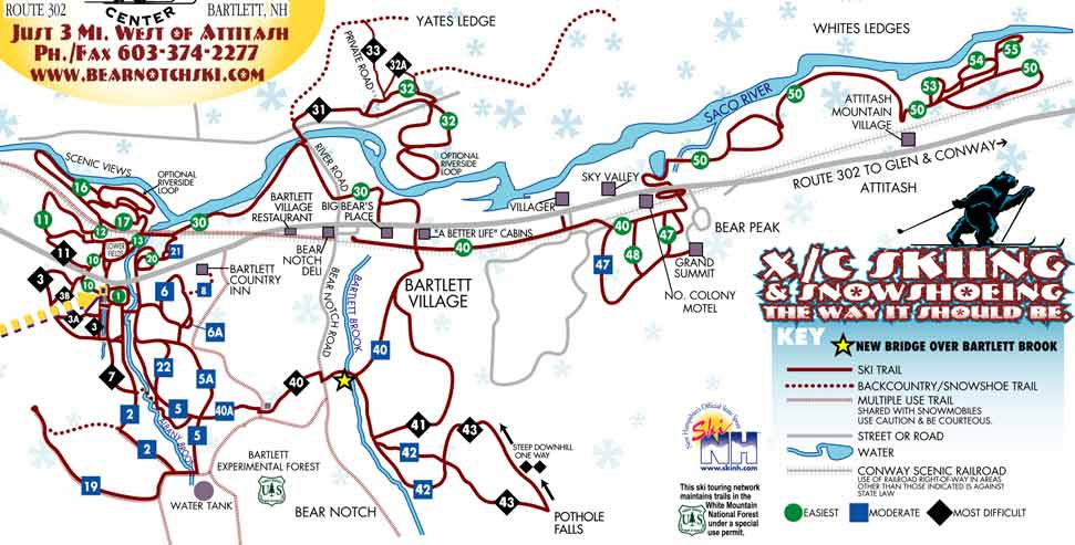 Bear Notch Snowmobile Trail Map