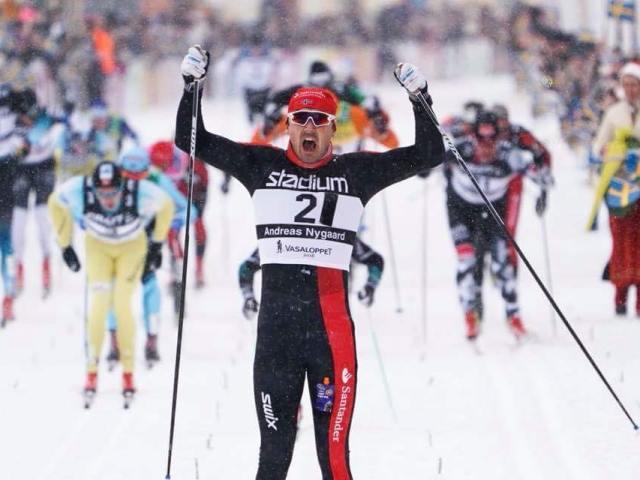 Andreas Nygaard vinder af Vasaloppet nr. 94