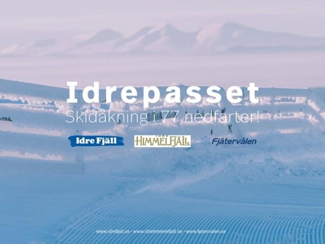 Et liftkort til tre svenske destinationer