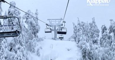 Det sner, sner og sner i Kläppen
