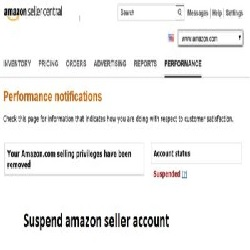 Suspend amazon seller account