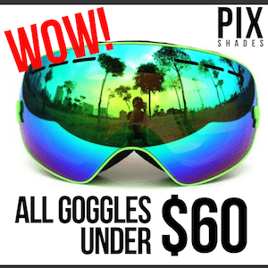 All ski goggles at PIX Shades under $60