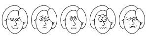 Gesichtsausdruck zeichnen