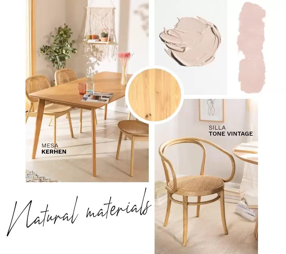 materiales naturales decoracion tendencia