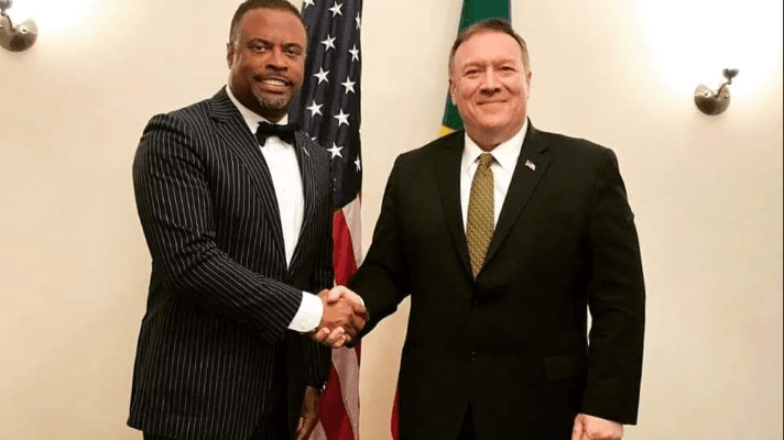 Foreign Affairs Minister of St. Kitts and Nevis Hon. Mark Brantley and Us Secretary of State, Mike Pompeo