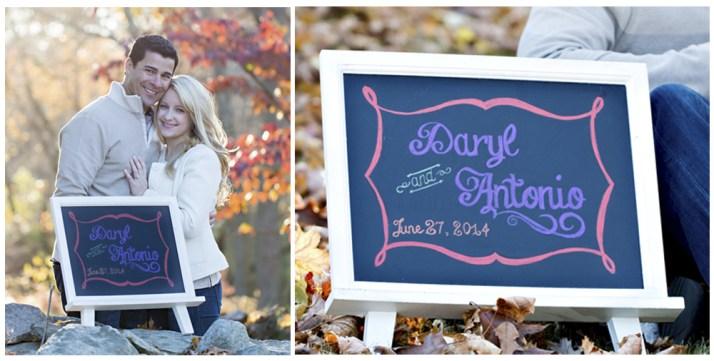 Custom designed chalkboard by SKO Designs. Photography by Shoreshotz Photography.