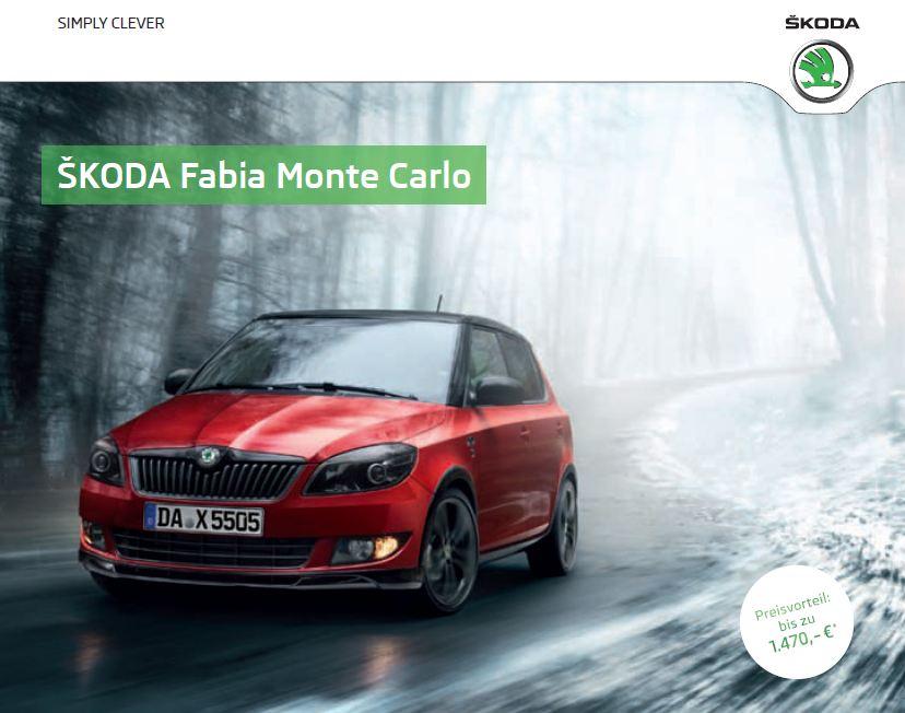 Das aktuellen Preise vom Skoda Fabia Monte Carlo
