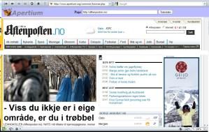 Aftenposten  på  nynorsk