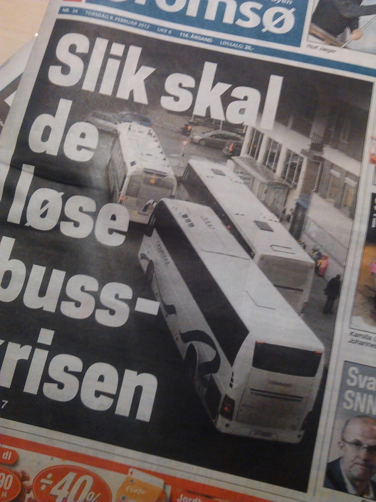 Faksimile frå iTromsø - busskrise