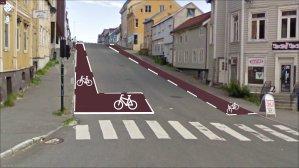Sykkelvegar  i  Tromsø