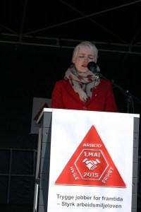 Ingrid Marie Kielland på talarstolen