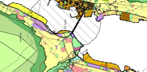 Utsnitt forslaget til arealplan - Tromsdalen
