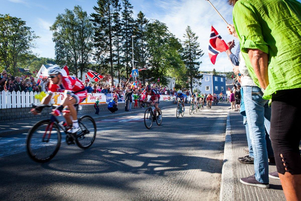 Bilde av syklisrtar under Arctic Race