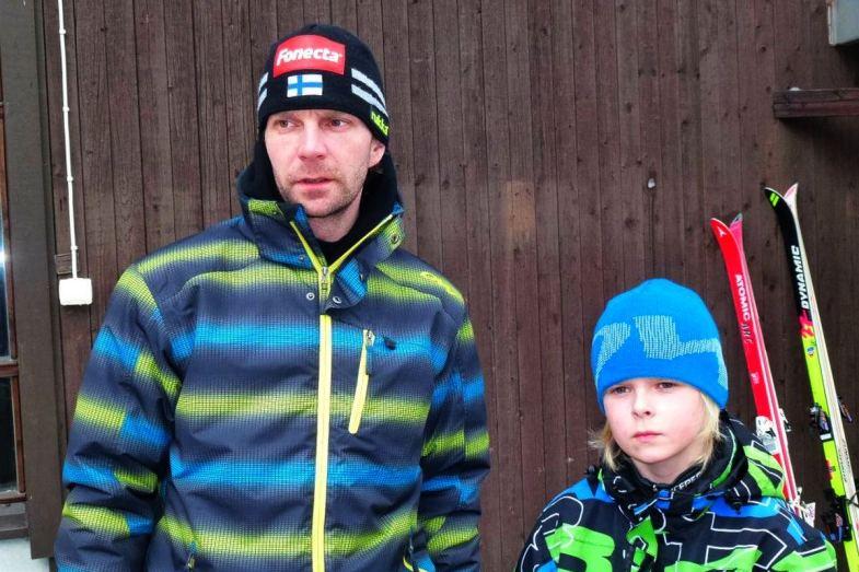 Janne Ahonen z synem Mico (fot. Tuija Hankkila)