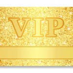 34482774 – vip club card composed from golden glitters
