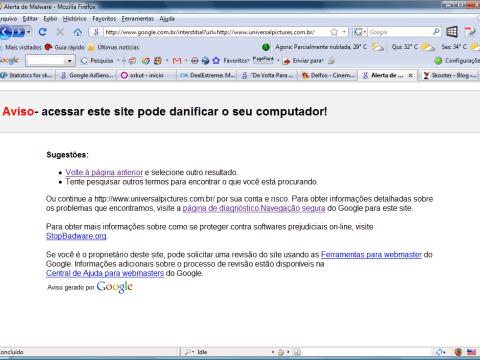 Universal - Alerta de Malware