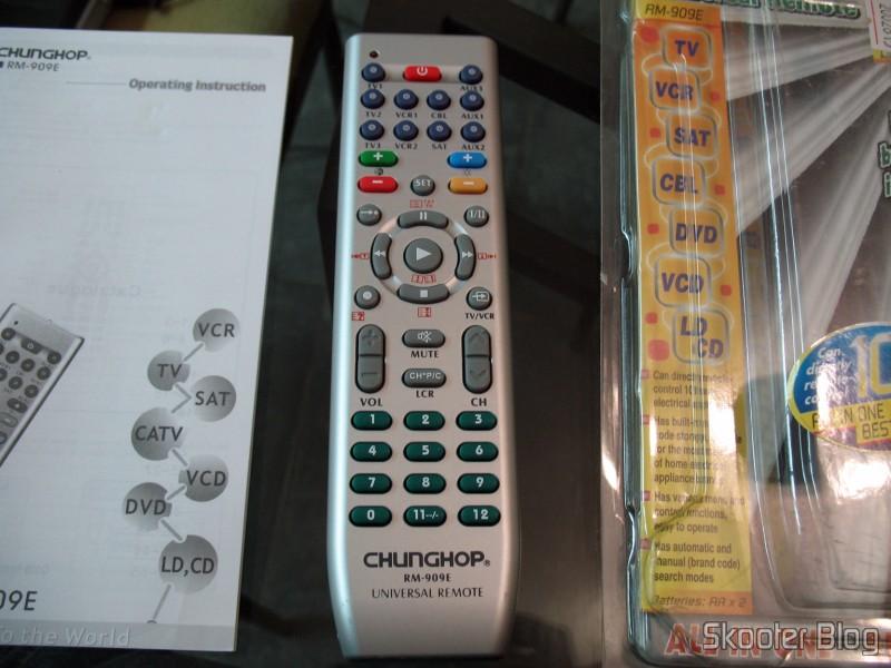 DealExtreme: Controle Remoto Universal para 10 Aparelhos TV/VCR/DVD/VCD/AUX/SAT