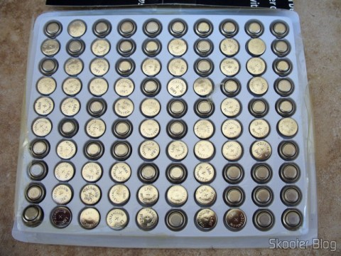 Pacote com 100 baterias LR41 / AG3