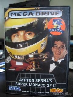 Cartucho do Ayrton Sennas Super Monaco GP II, preciosidade da época (1992) que tenho até hoje