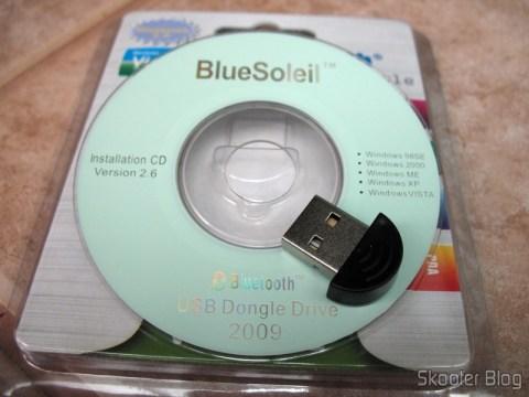 Mini-CD com o BlueSoleil e o adaptador Bluetooth