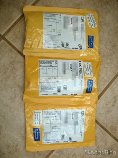 Três pacotes da DealExtreme, não tributados