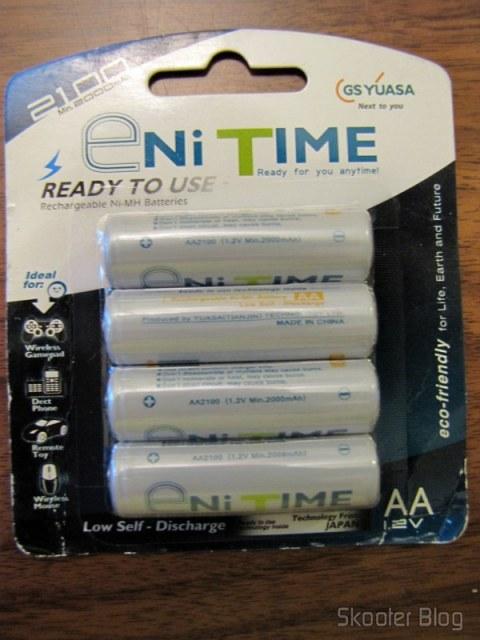 Pilhas AA GS Yuasa Enitime na nova embalagem