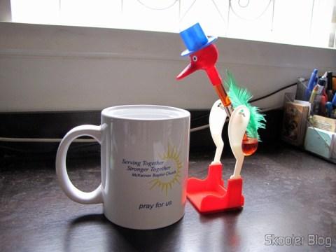 O pássaro bebedor em funcionamento