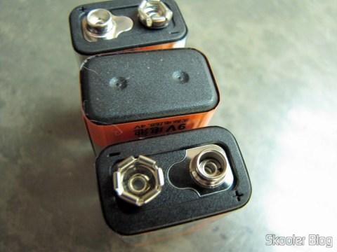 Detalhes do acabamento das baterias Tweens
