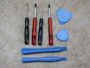 Kit de ferramentas para desmontar celulares e videogames portáteis