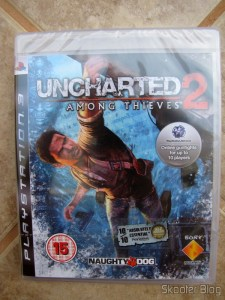 Uncharted 2: Among Thieves, box still sealed