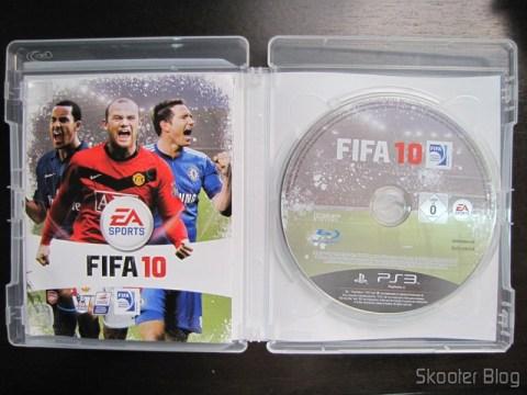 Manual e Blu-ray do Fifa 10