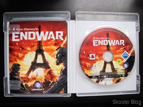 Manual e disco Blu-ray do Tom Clancy's EndWar do PS3