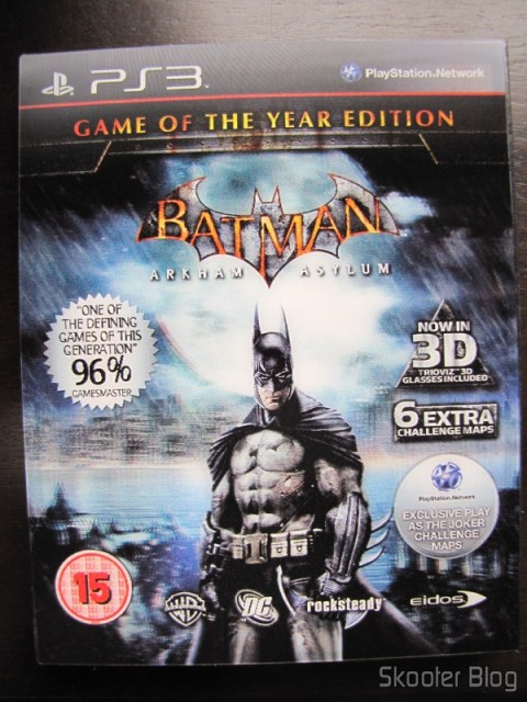 Batman: Arkham Asylum Game of The Year Edition - a bela capa com efeito 3D