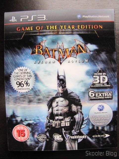 Batman: Arkham Asylum Game of The Year Edition - a bela capa com efeito 3D