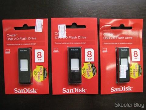 Pendrives Sandisk Cruzer USB 2.0 8GB