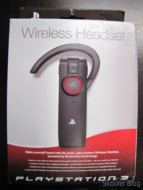 Caixa do Headset Bluetooth Wireless Oficial do Playstation 3