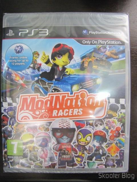 ModNation Racers do PS3, na caixa ainda lacrada